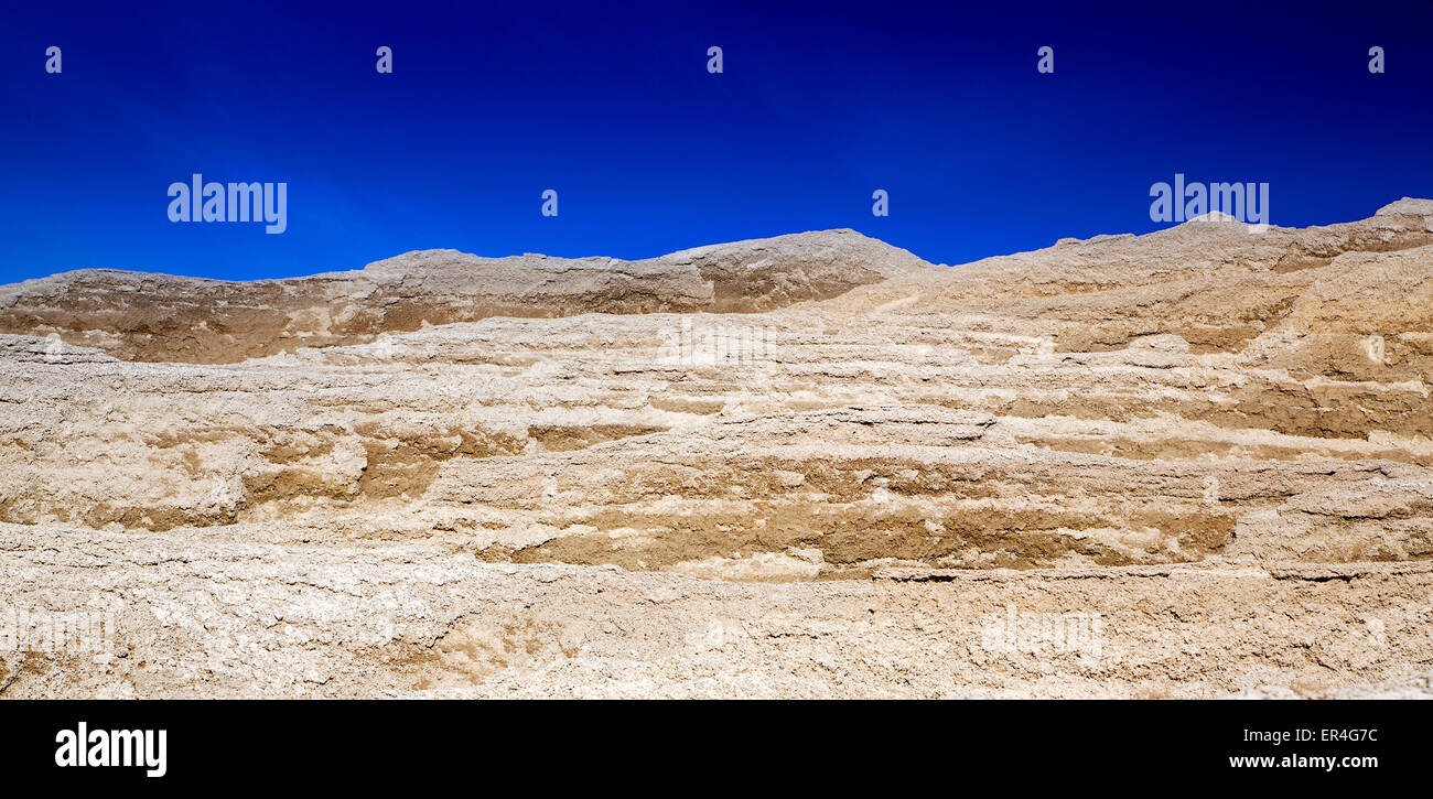 Beautiful sunny day in the sandy hills - Stock Image