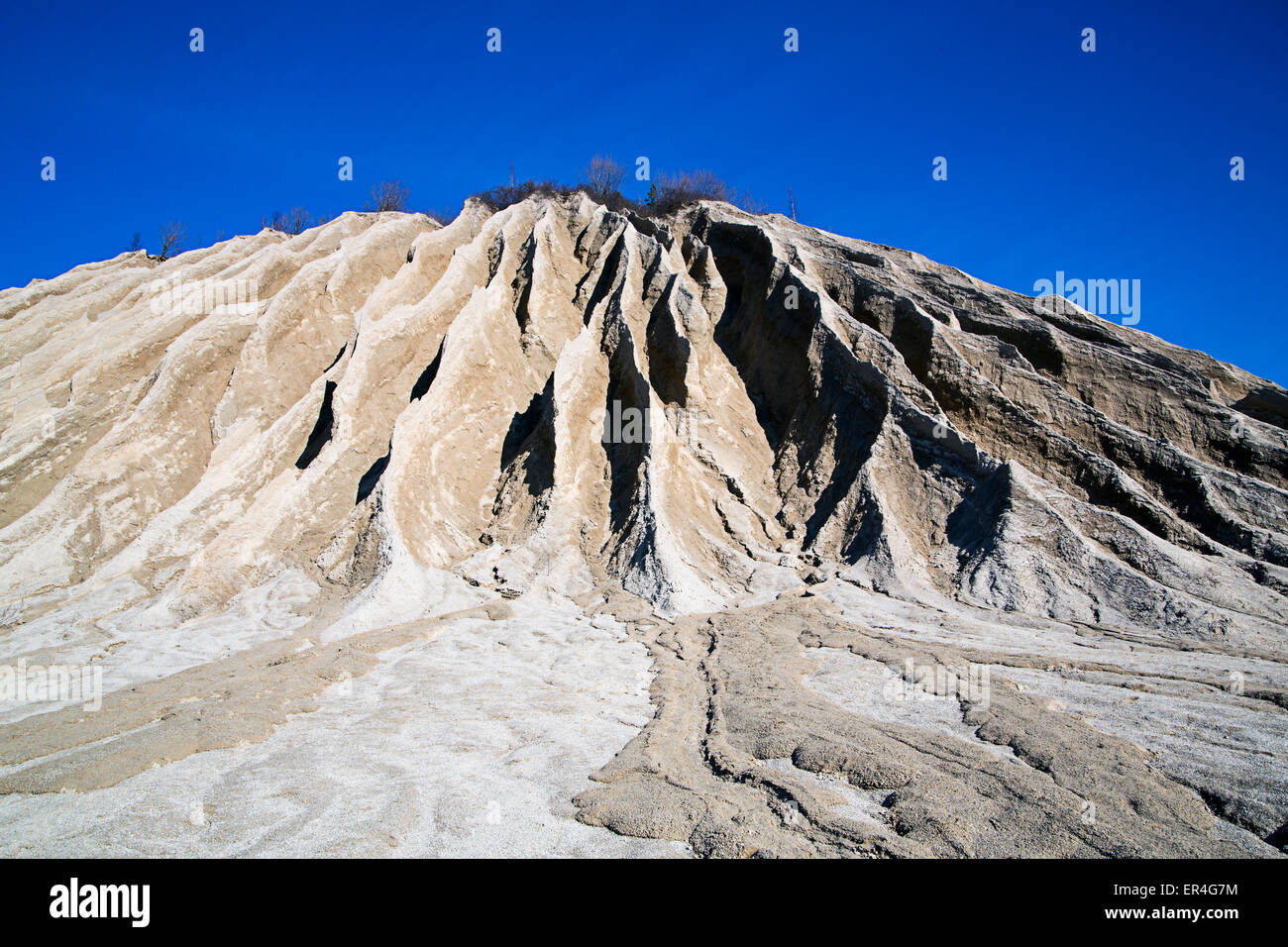 A big and grey mountain looks powerful - Stock Image