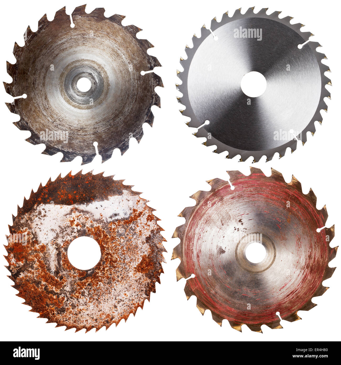 Set of four circular saw blades isolated on white background stock set of four circular saw blades isolated on white background keyboard keysfo Gallery