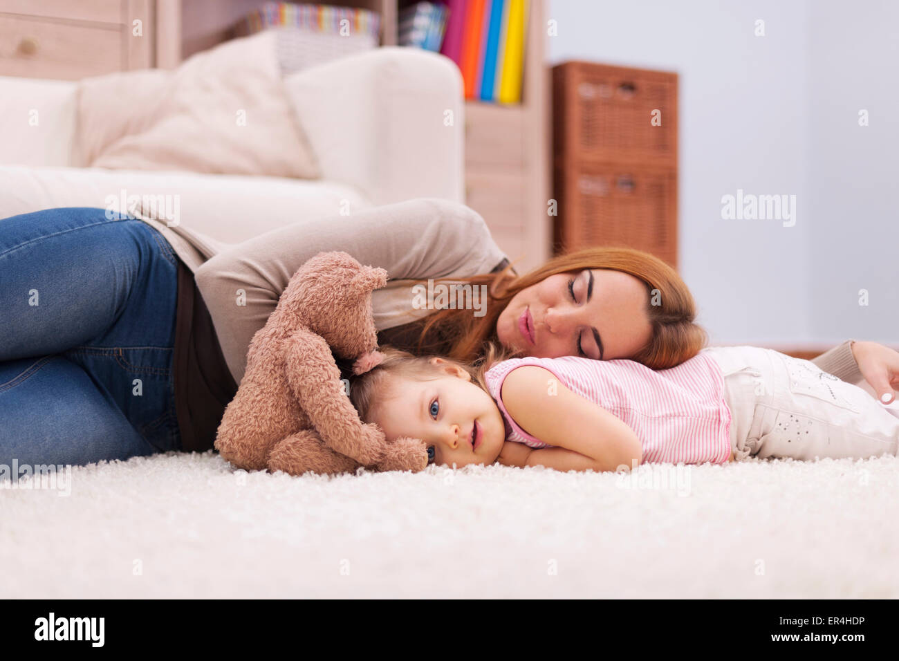 Time for short nap during the day. Debica, Poland - Stock Image