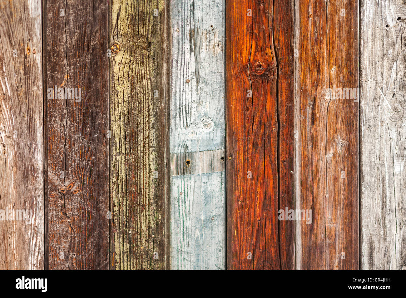 Tones of different wooden planks - Stock Image