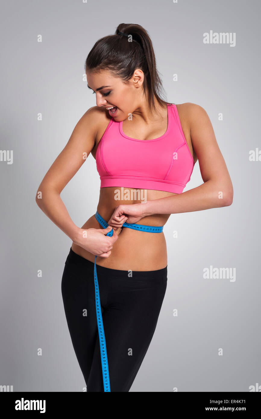 Success in caring about weight. Debica, Poland - Stock Image
