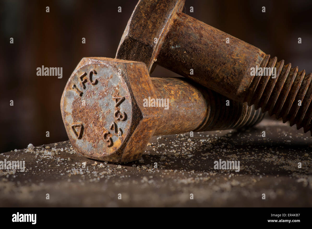 Rusty Bolts Detail - Stock Image