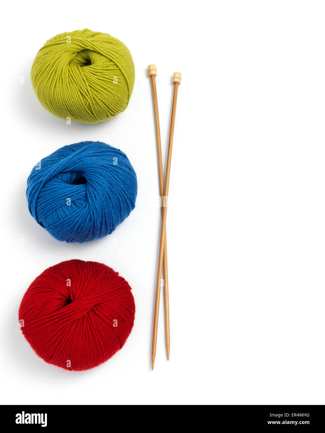 Balls of wool - Stock Image