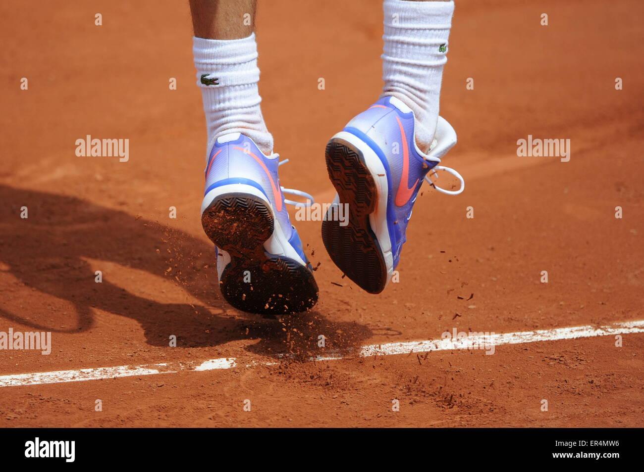 illustration chaussures/Nike - 26.05.2015 - Jour 3 - Roland Garros 2015.Photo : Nolwenn Le Gouic/Icon Sport - Stock Image