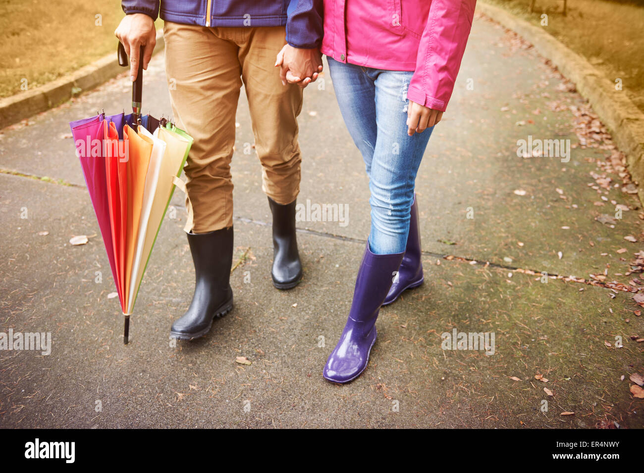We are prepared for the autumn weather. Debica, Poland - Stock Image