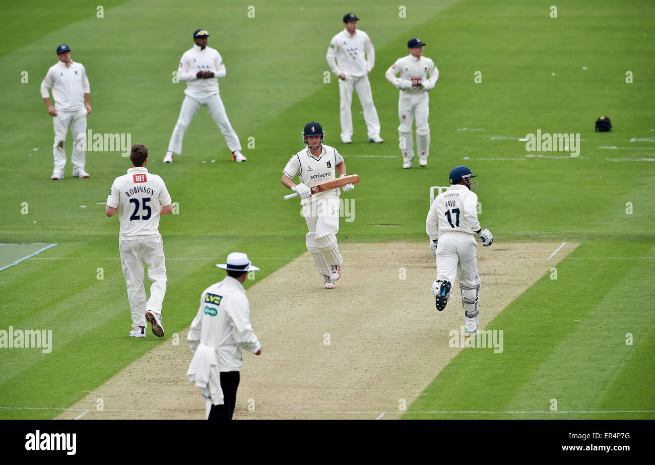Sussex v Warwickshire County Cricket Match Day 1 at Hove - Warwickshire and former England player Jonathan Trott - Stock Image