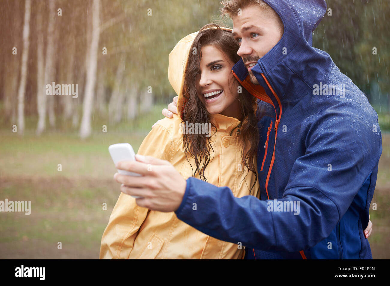 Weather forecast are adverse for the next few hours. Debica, Poland - Stock Image