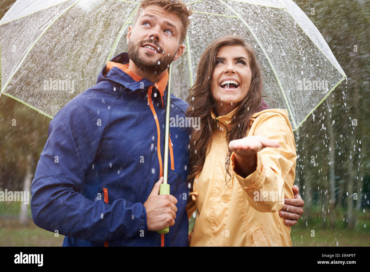 I think it doesn't stop raining soon. Debica, Poland - Stock Image