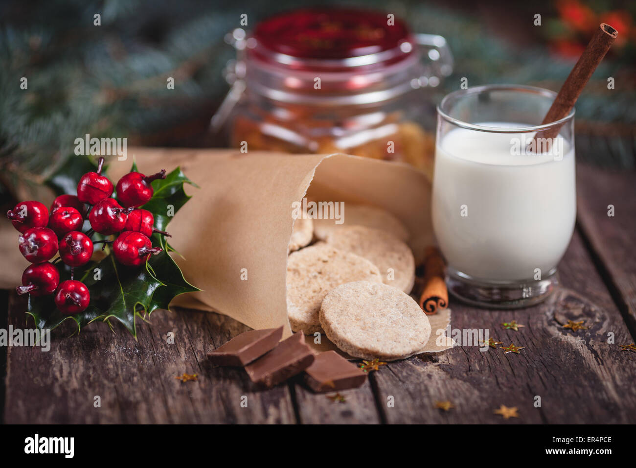 Sweet snacks for Christmas eve. Debica, Poland - Stock Image