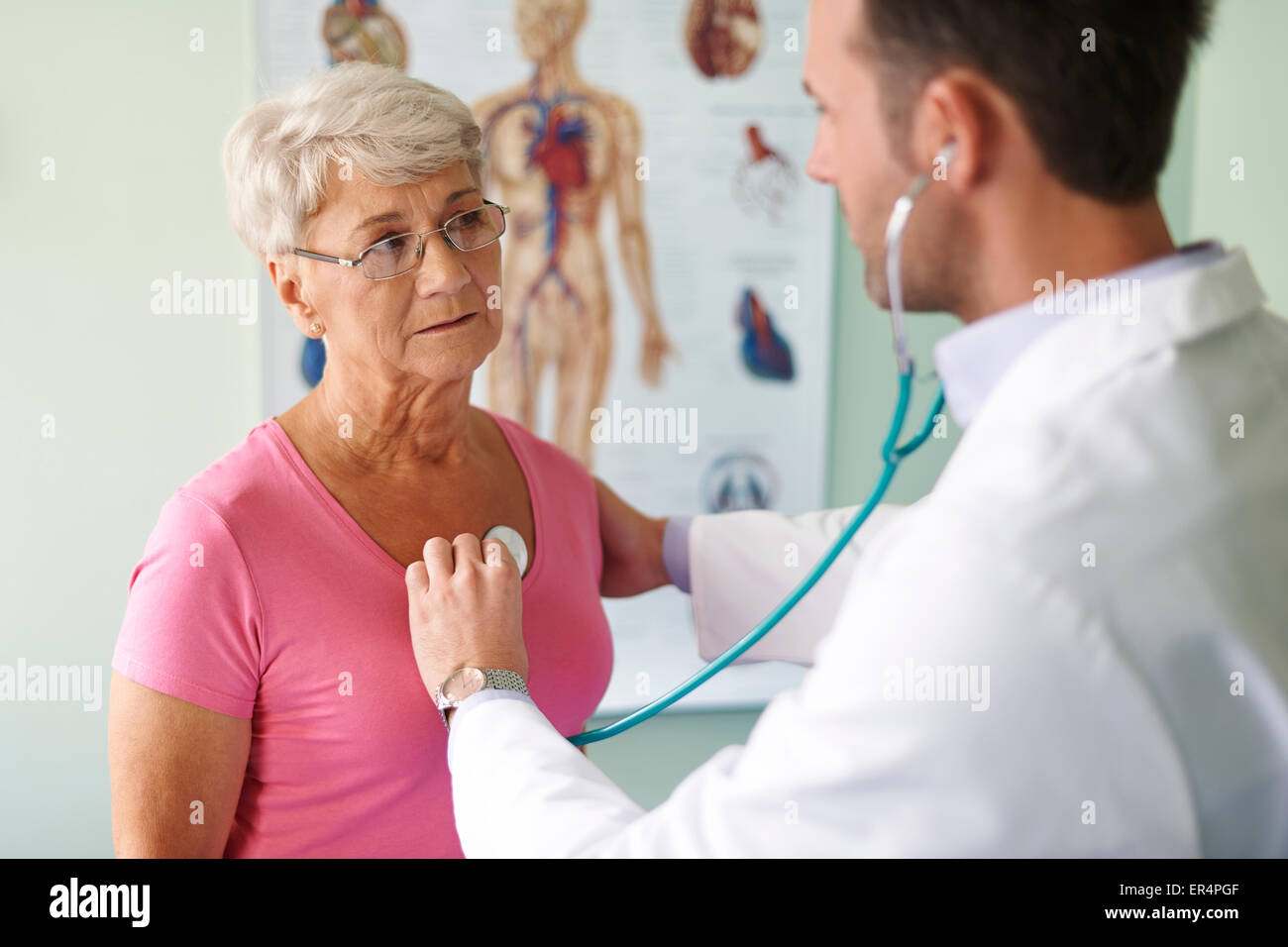Control visit in the doctor. Debica, Poland - Stock Image