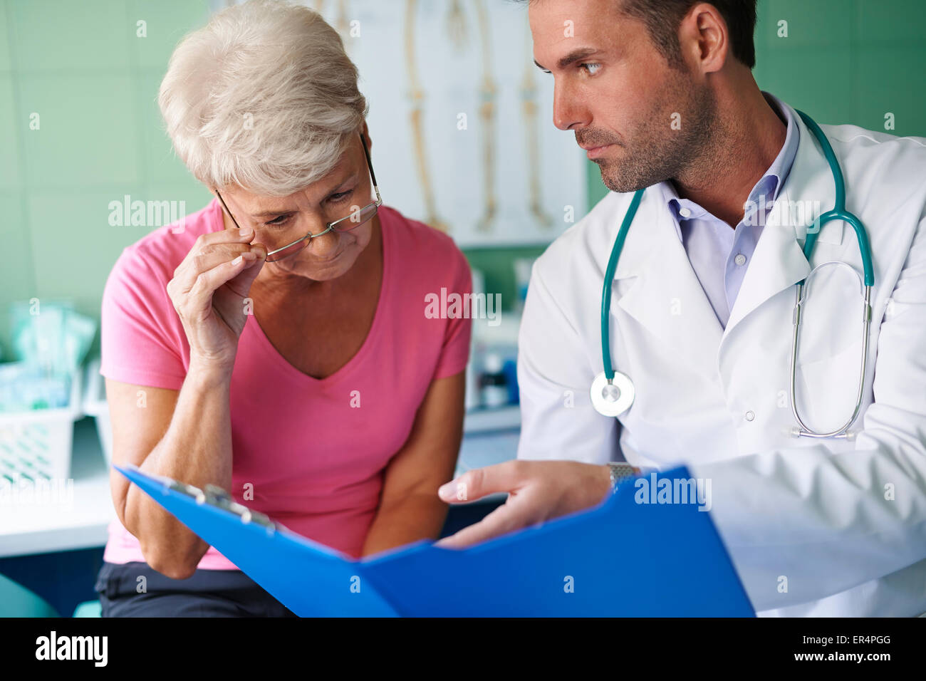 Look for this medical test. You have to take care of yourself. Debica, Poland - Stock Image