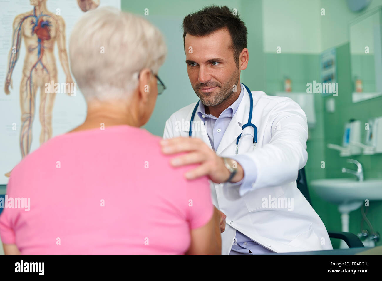 Visit in the doctor's office. Debica, Poland - Stock Image