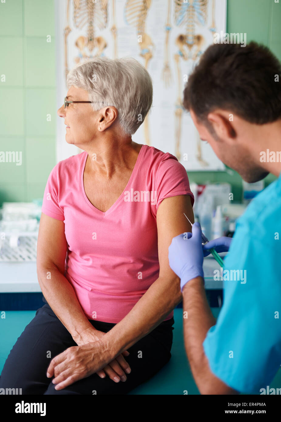 I really can't stand injections. Debica, Poland - Stock Image