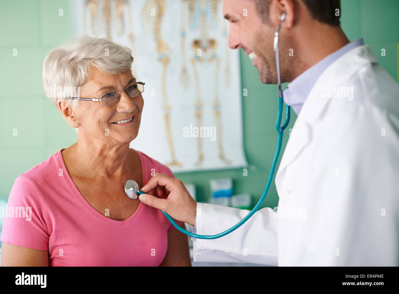 Visits in my doctor are no unpleasant. Debica, Poland - Stock Image