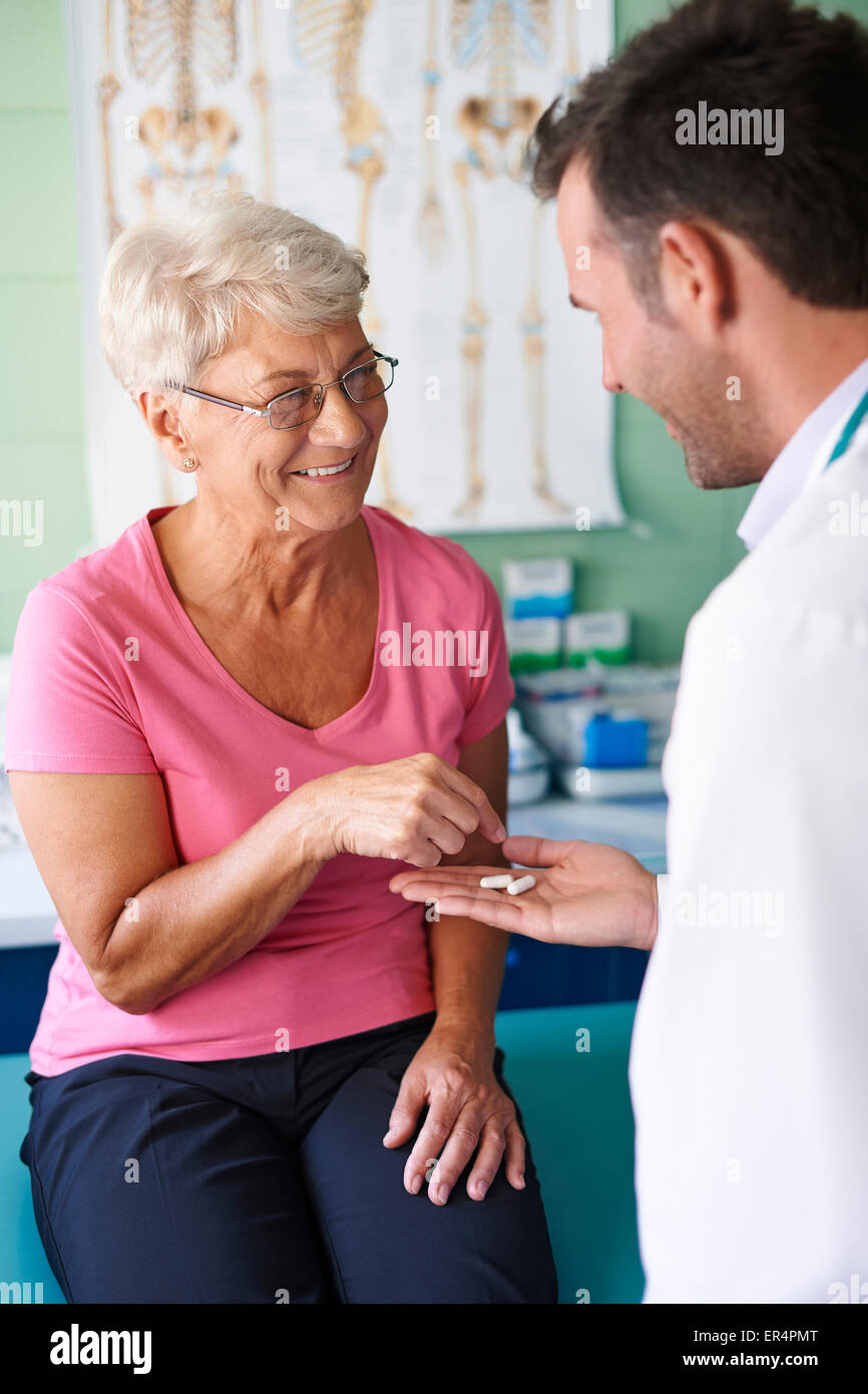 I trust you, that this pill help me. Debica, Poland - Stock Image