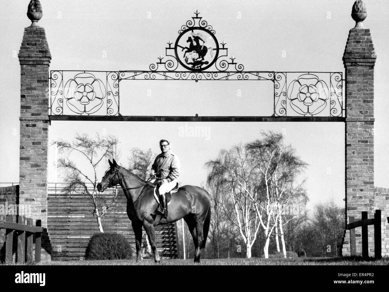 Douglas Bunn owner of the Hickstead Showjumping course in the 1980s - Stock Image