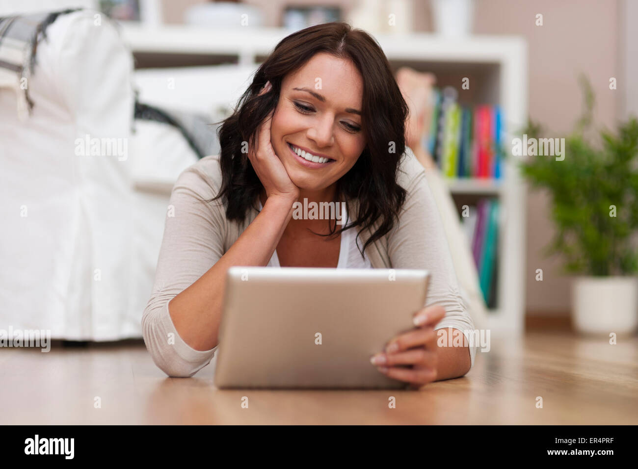My digital tablet has so many options. Debica, Poland - Stock Image