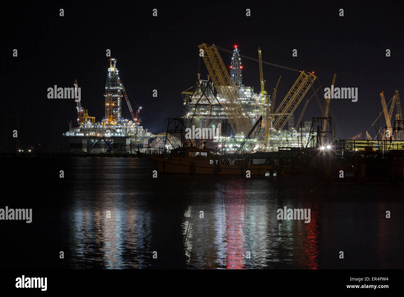 Big Foot by Chevron oil & gas offshore drill platform. - Stock Image