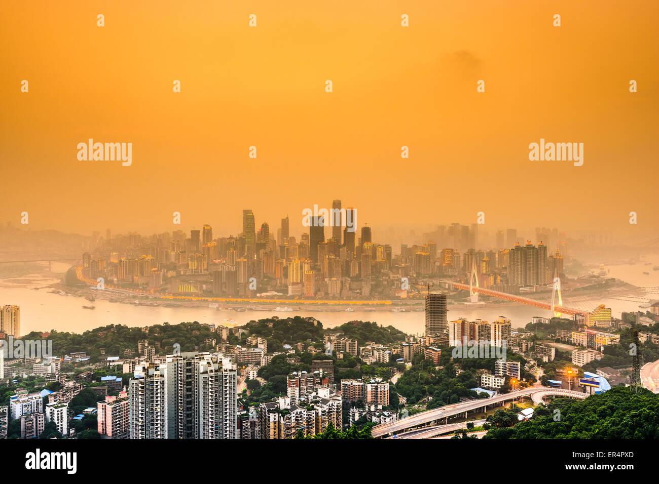 Chongqing, China cityscape. - Stock Image