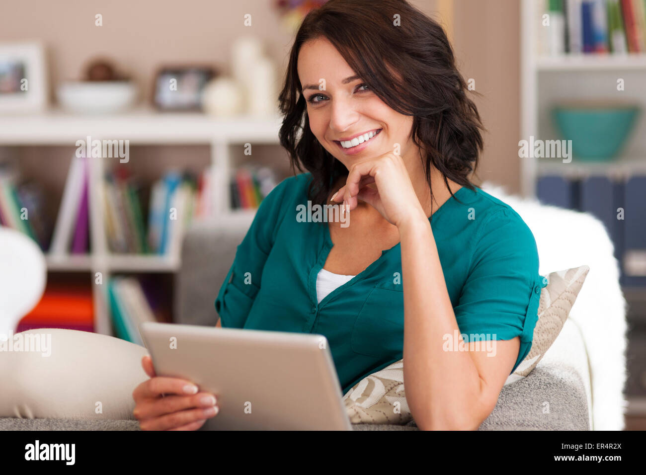 I have wireless internet in my home. Debica, Poland - Stock Image