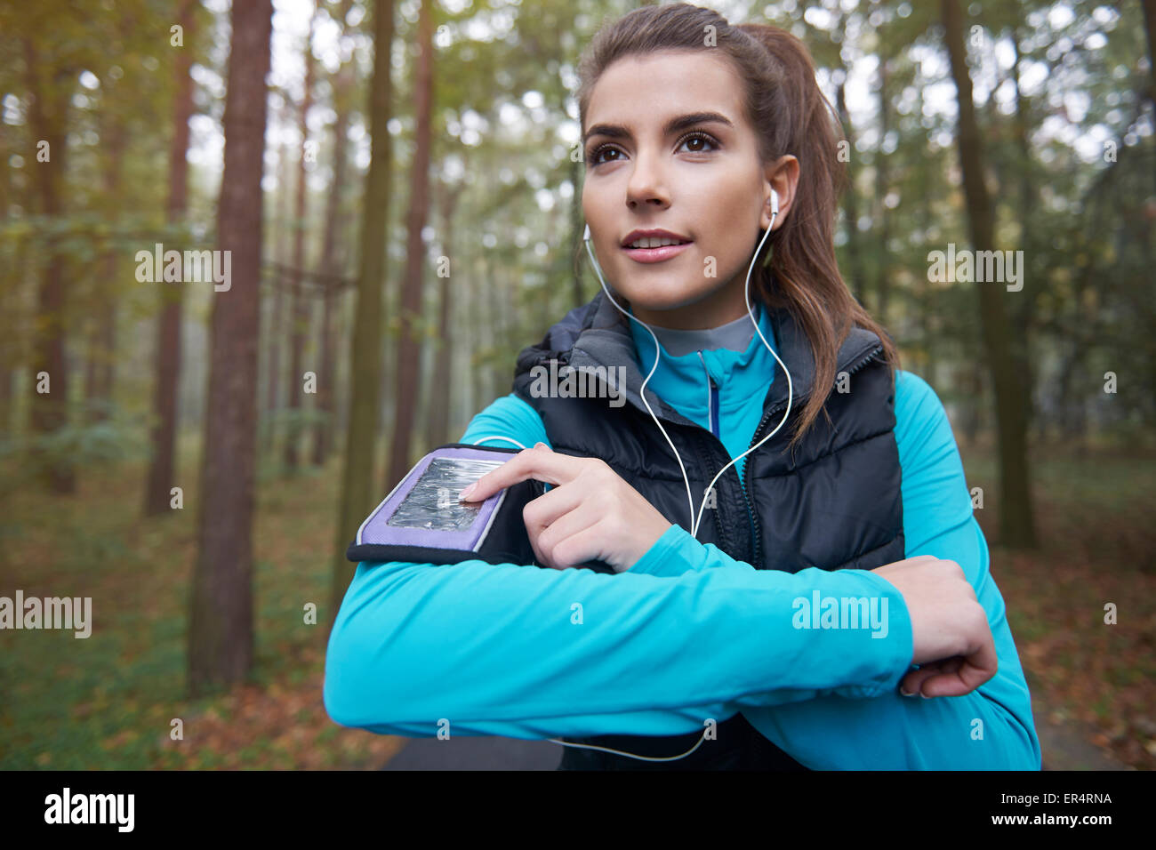 My favourite playlist for running. Debica, Poland - Stock Image