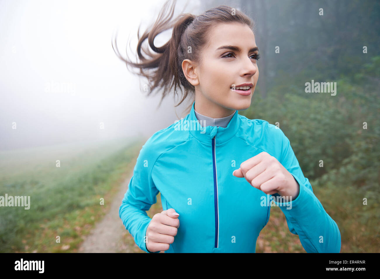 No pain no gain- this is my motto. Debica, Poland - Stock Image