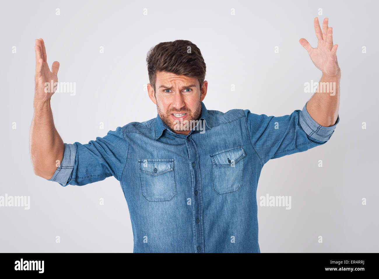 This work is very stressful. Debica, Poland - Stock Image