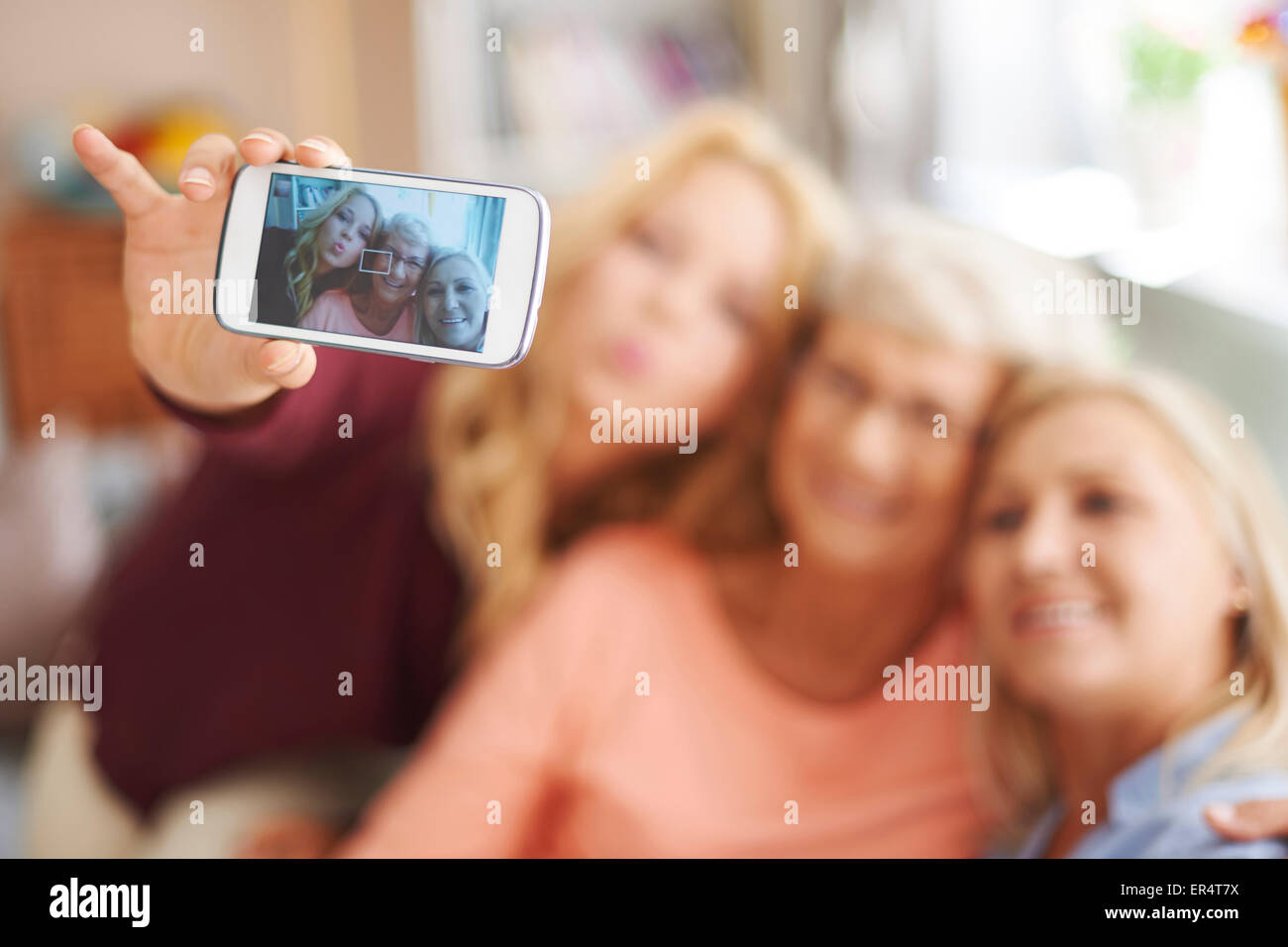 Young generation using new technology. Debica, - Stock Image