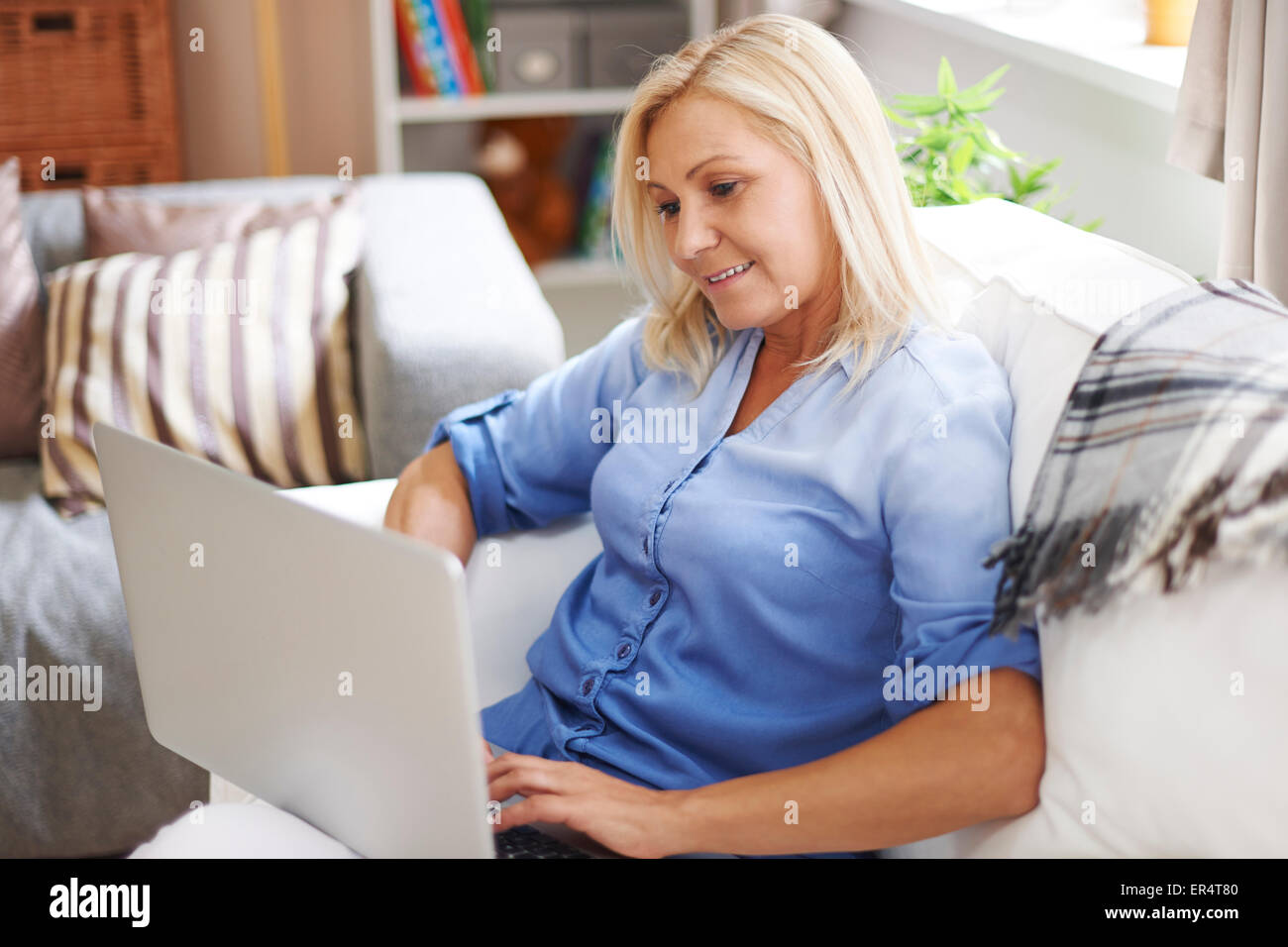 I have to check my inbox. Debica, Poland - Stock Image