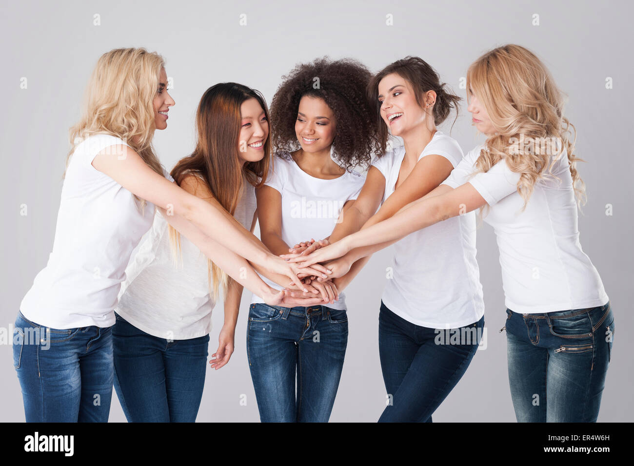 Cooperation in a team always brings benefits. Debica, Poland - Stock Image