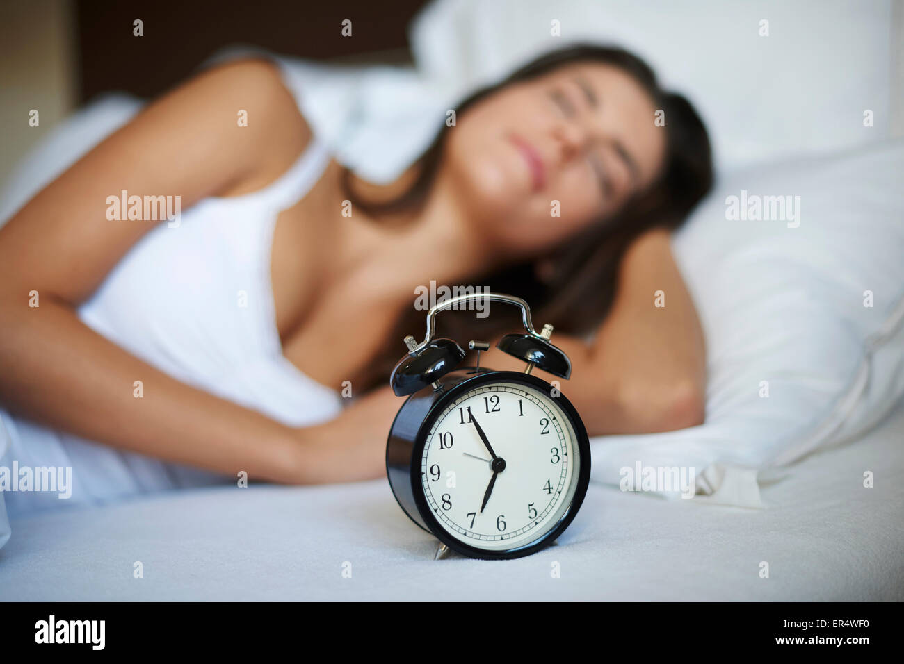 Yet only five minutes of sleep. Debica, Poland - Stock Image