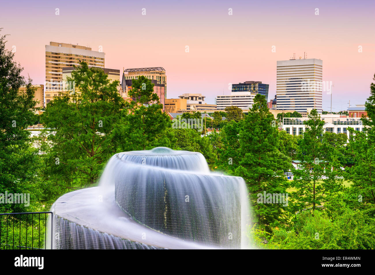 Columbia, South Carolina, USA at Finlay Park Fountain. - Stock Image