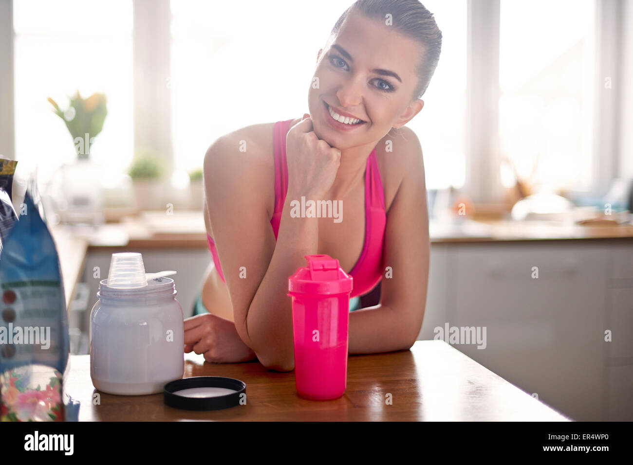 My lifestyle is full of physical activity. Debica, Poland - Stock Image