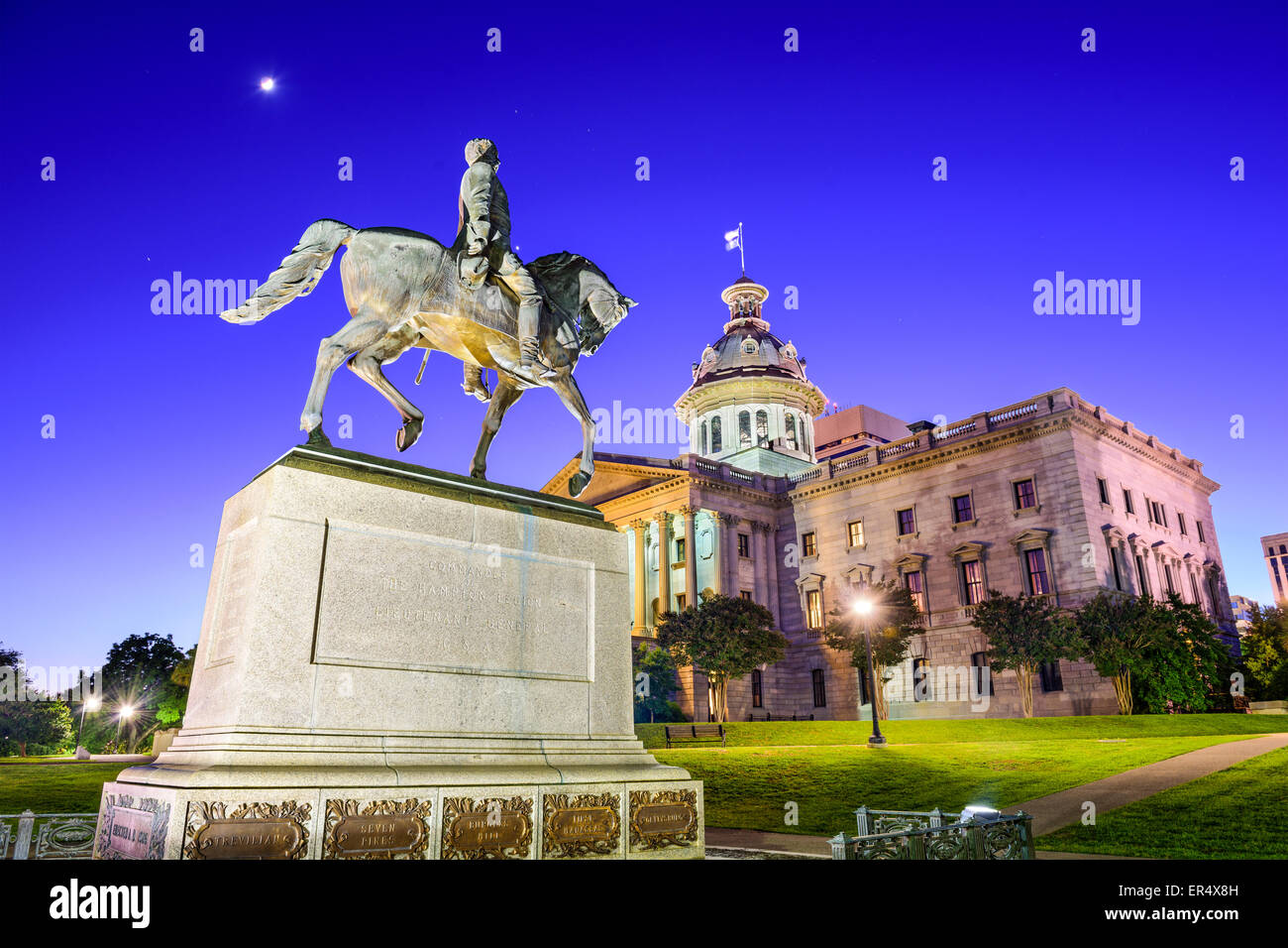 Columbia, South Carolina, USA at the State House. - Stock Image