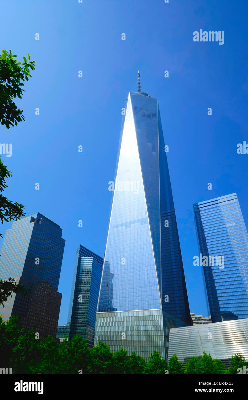 1 world trade center tower in New York refers to the main building of the new World Trade Center complex in Lower - Stock Image