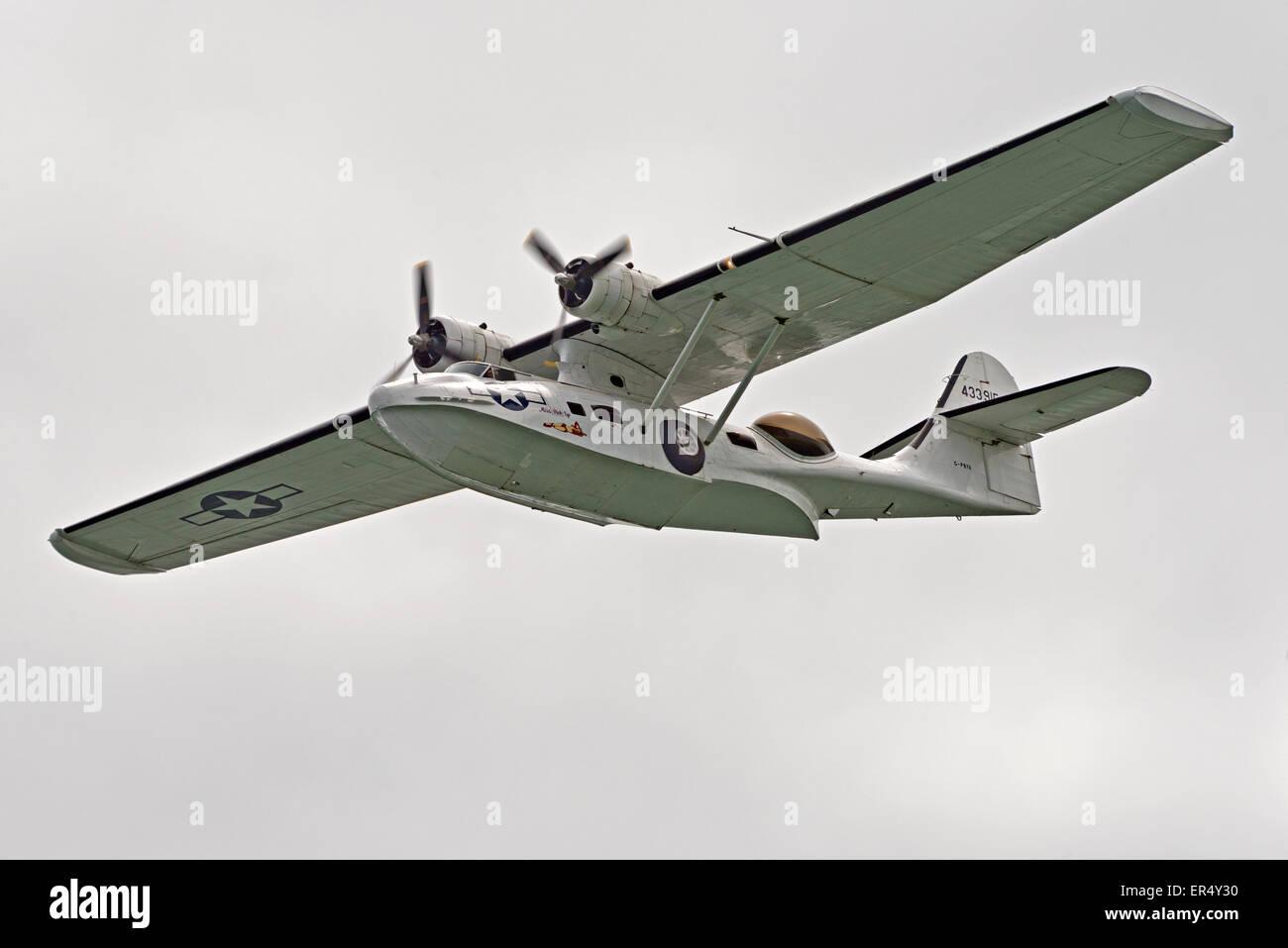 Pby Catalina C Fnjf Flying Boat Llandudno Air Show N Wales Uk