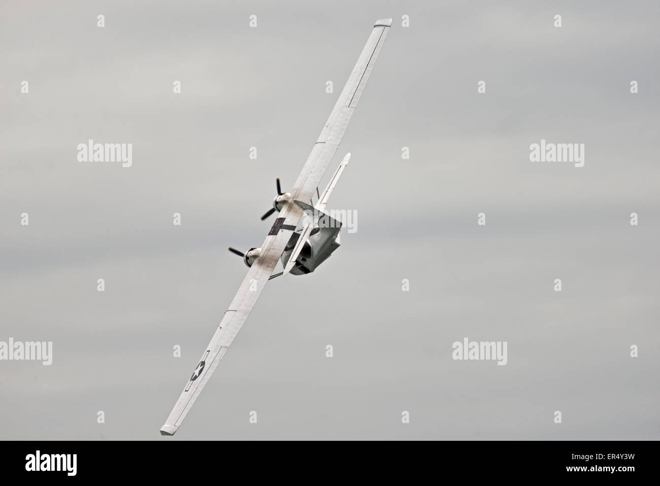 PBY Catalina C-FNJFFlying Boat Llandudno Air Show. N.Wales Uk Aerobatics Sea Plane - Stock Image
