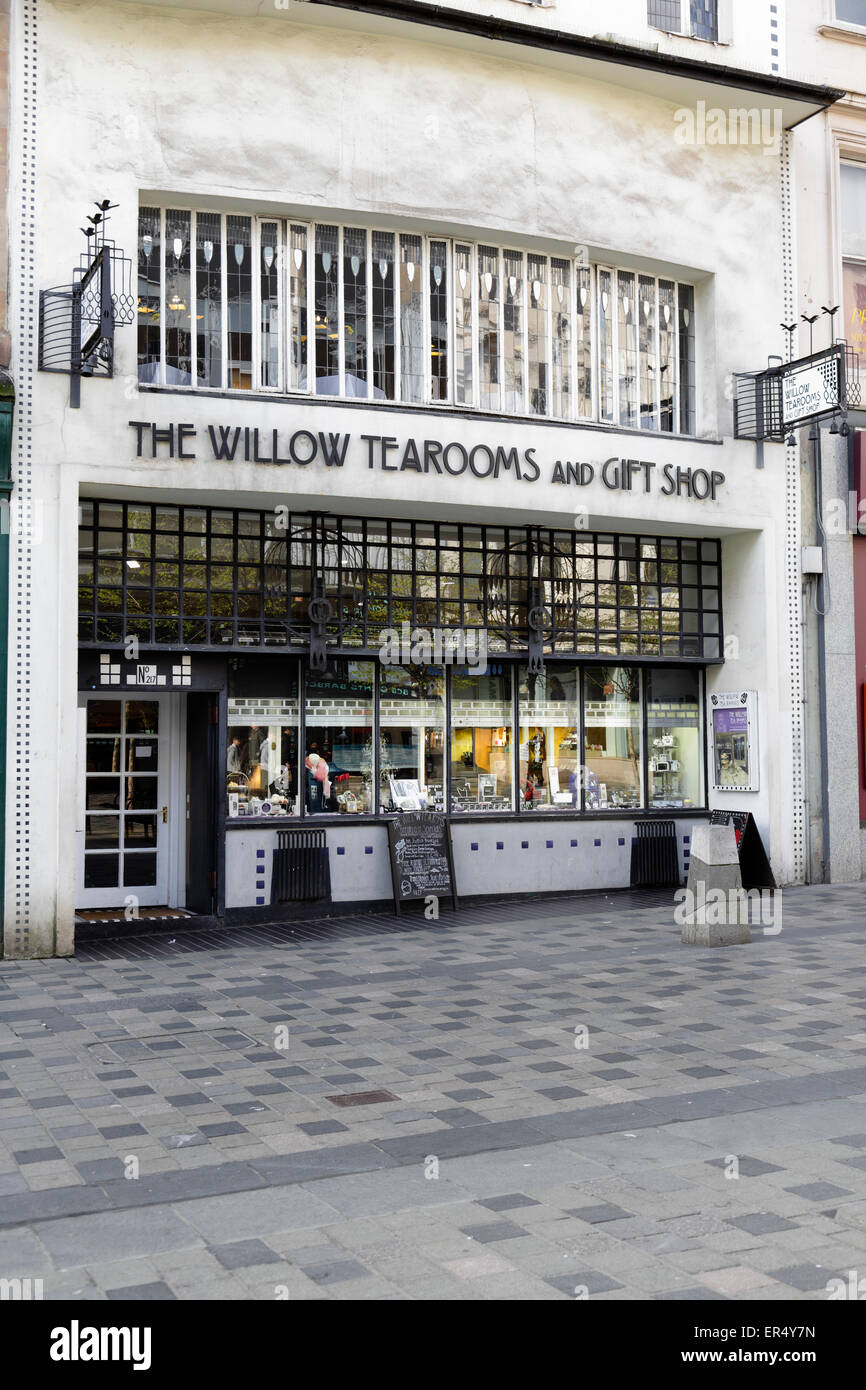 The Willow Tearooms and Gift shop on Sauchiehall Street, Glasgow, Scotland, UK Stock Photo