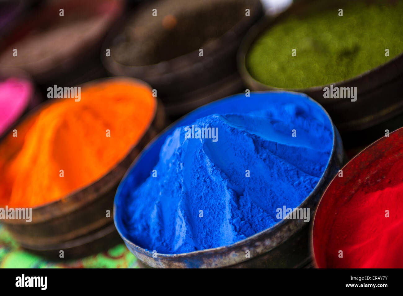 Peruvian Dye in Powder Form - Stock Image