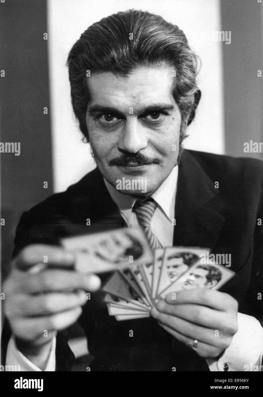 May 27, 2015 - Actor OMAR SHARIF, who starred in Lawrence of Arabia and Doctor Zhivago in the 1960s, has been diagnosed - Stock Image