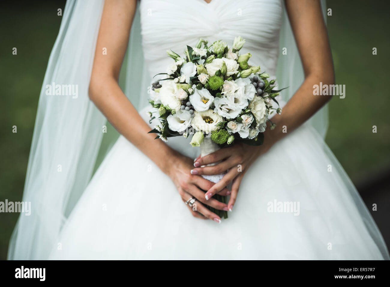 Very beautiful wedding bouquet - Stock Image
