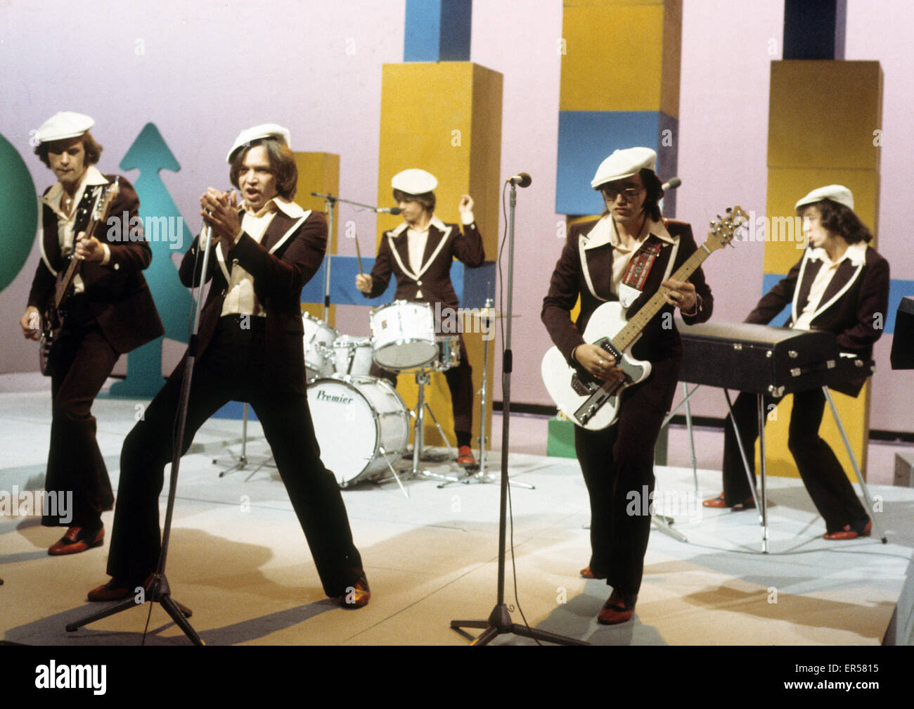 RUBETTES UK pop group in 1974 - Stock Image