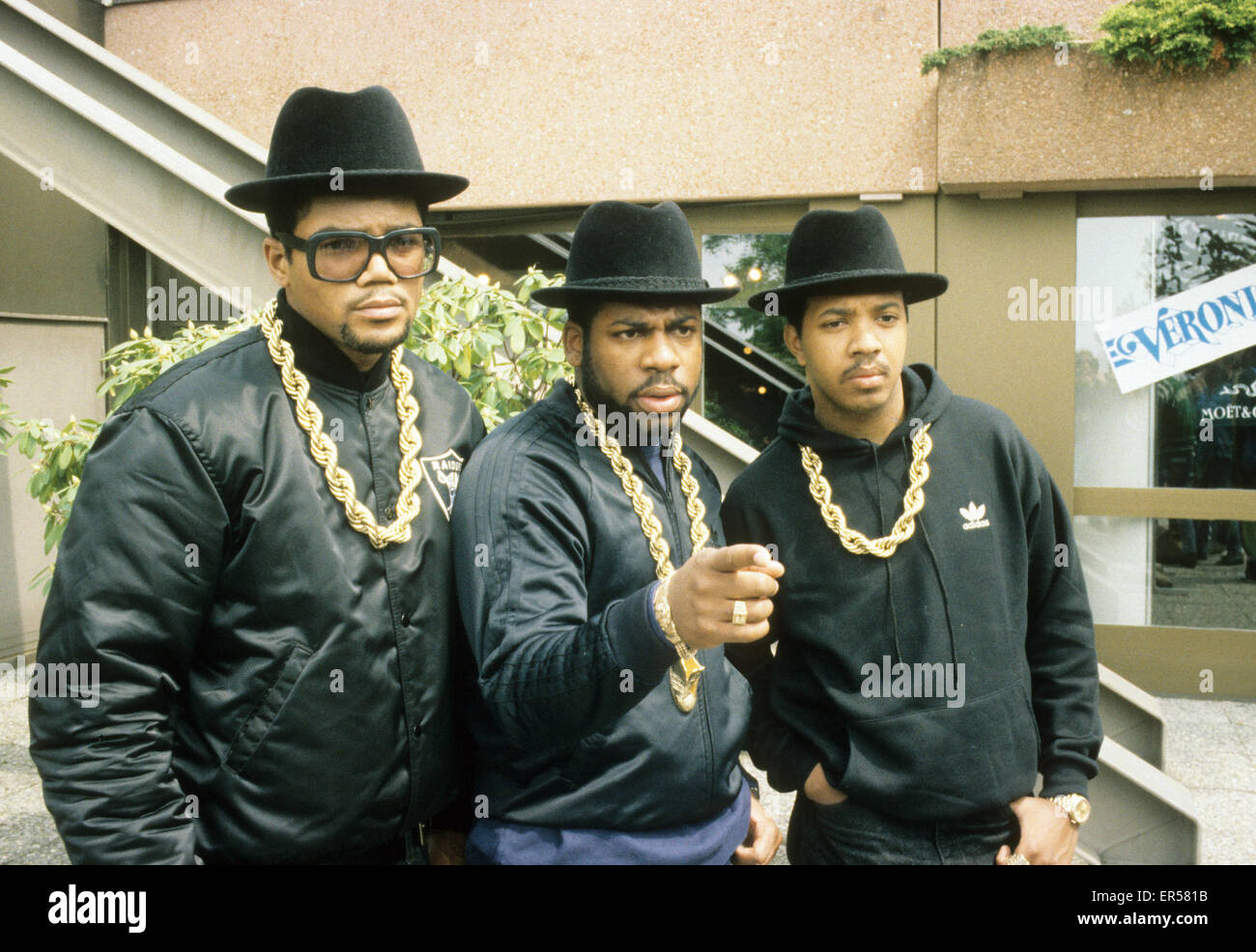 RUN DMC US hip hop group about 1984 - Stock Image