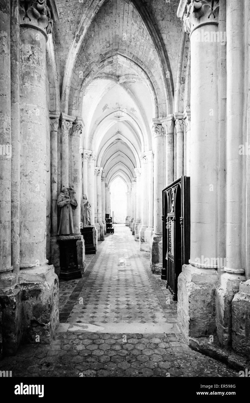 Corridor of Saint-Germer-de-Fly - Stock Image