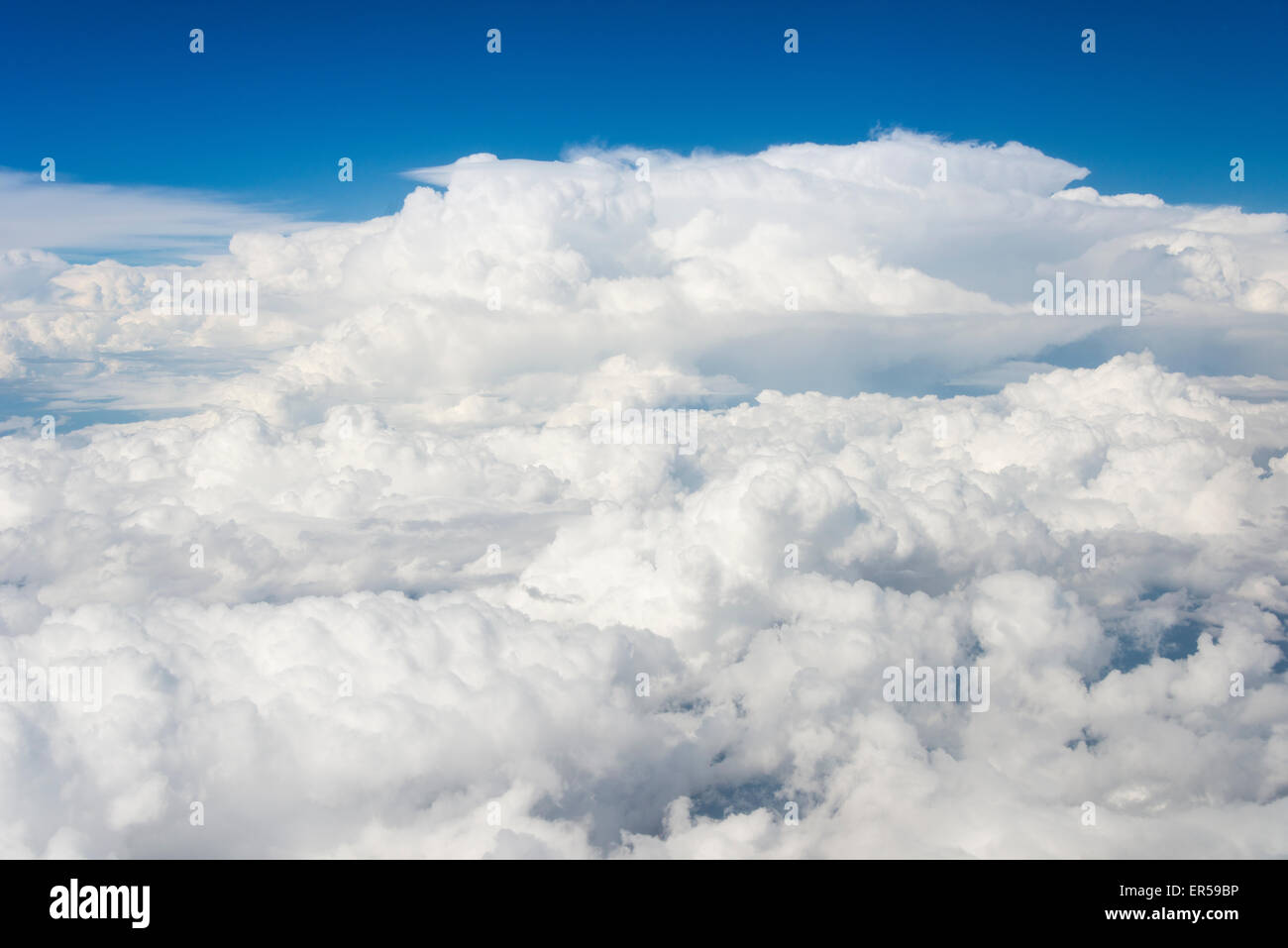 View of cloud formations from aircraft, Republic of South Africa Stock Photo