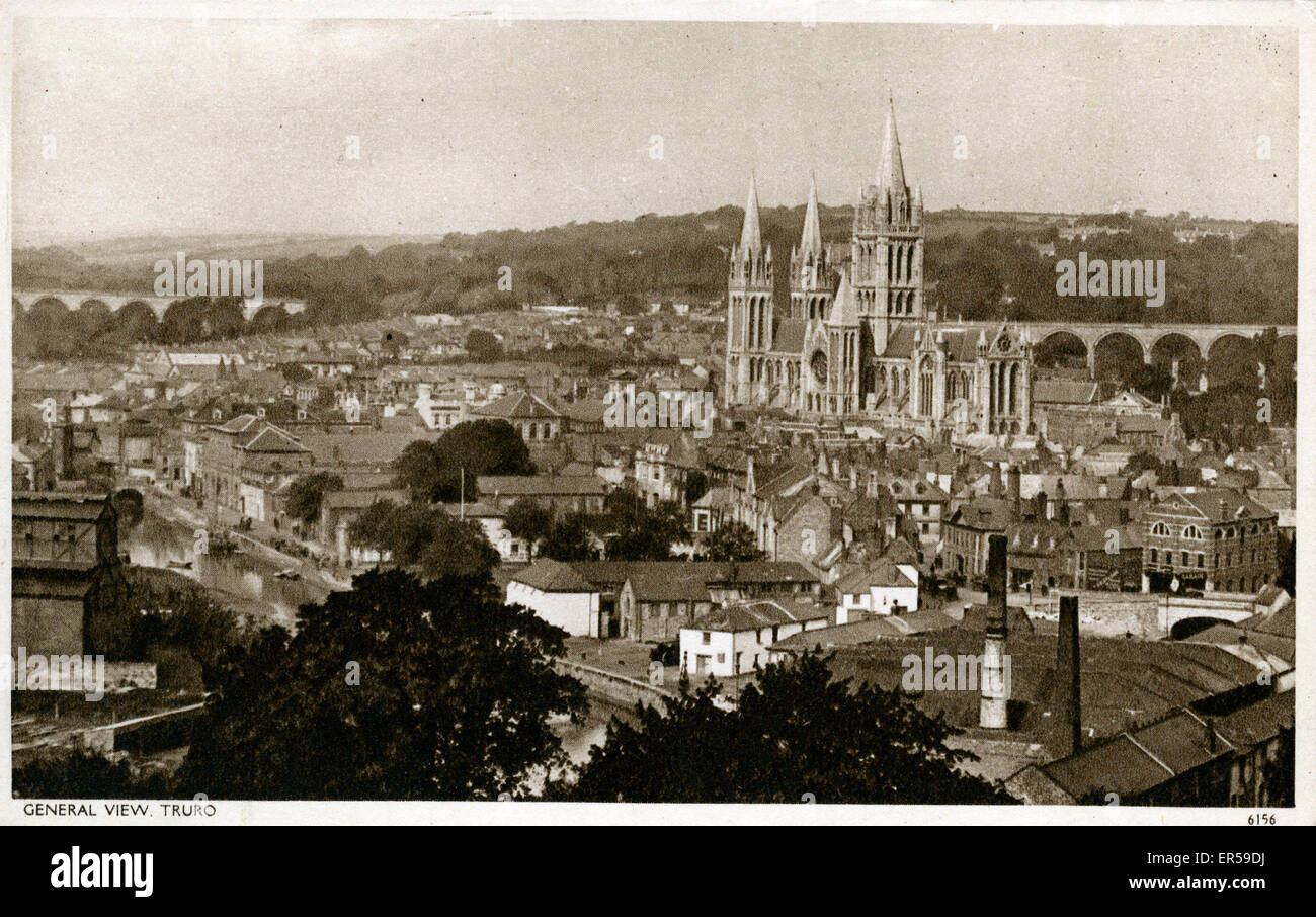 General View, Truro, Cornwall, England.  1930s - Stock Image