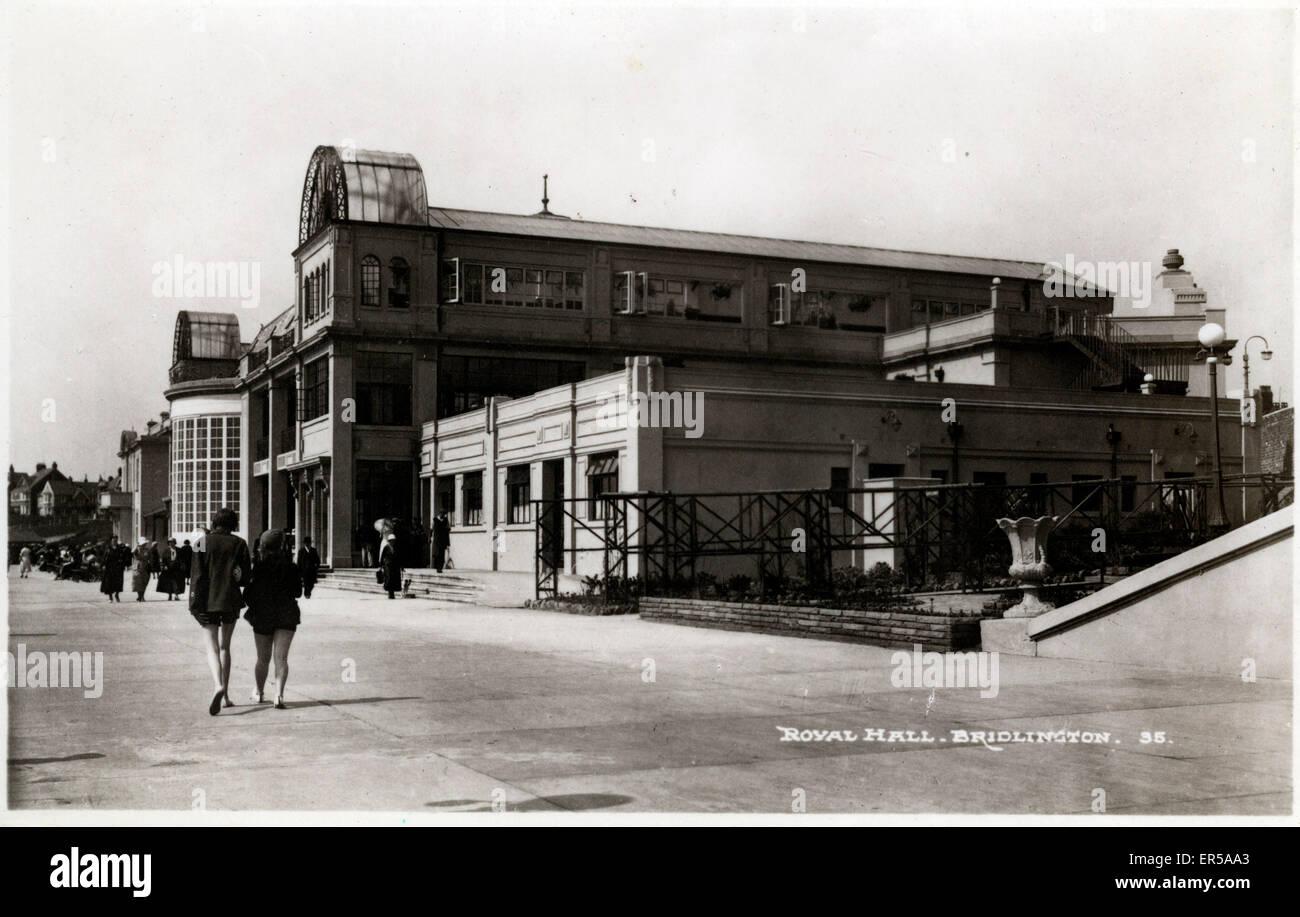 Royal Hall, Bridlington, Yorkshire , England.  1930s - Stock Image