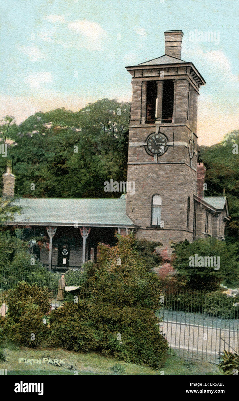 Clock Tower & Pavilion, Firth Park, Sheffield, Yorkshire, England.  1900s - Stock Image