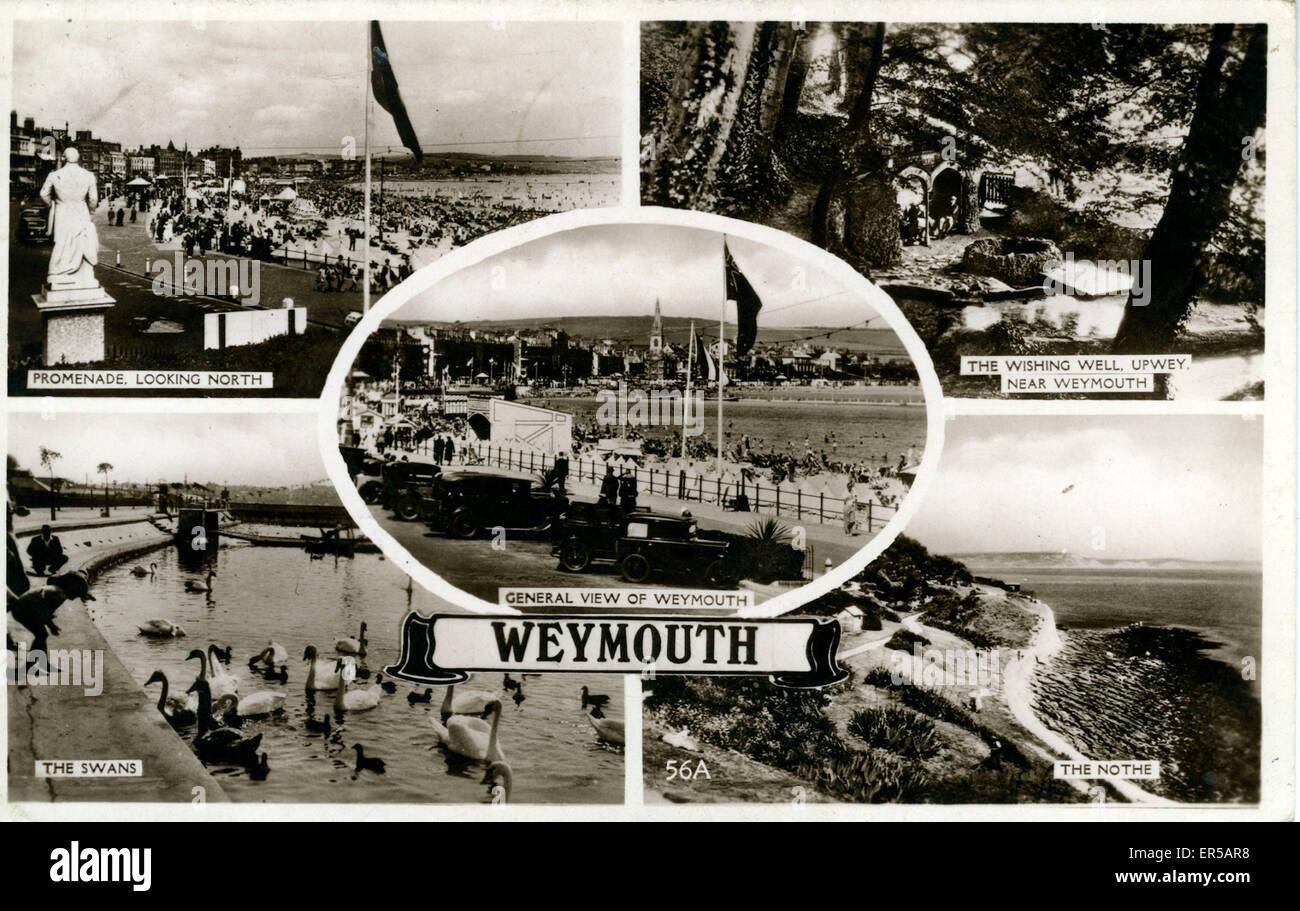 Multiview, Weymouth, Dorset, England.  1940s - Stock Image